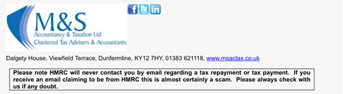 M&S Accountancy & Taxation spam advice